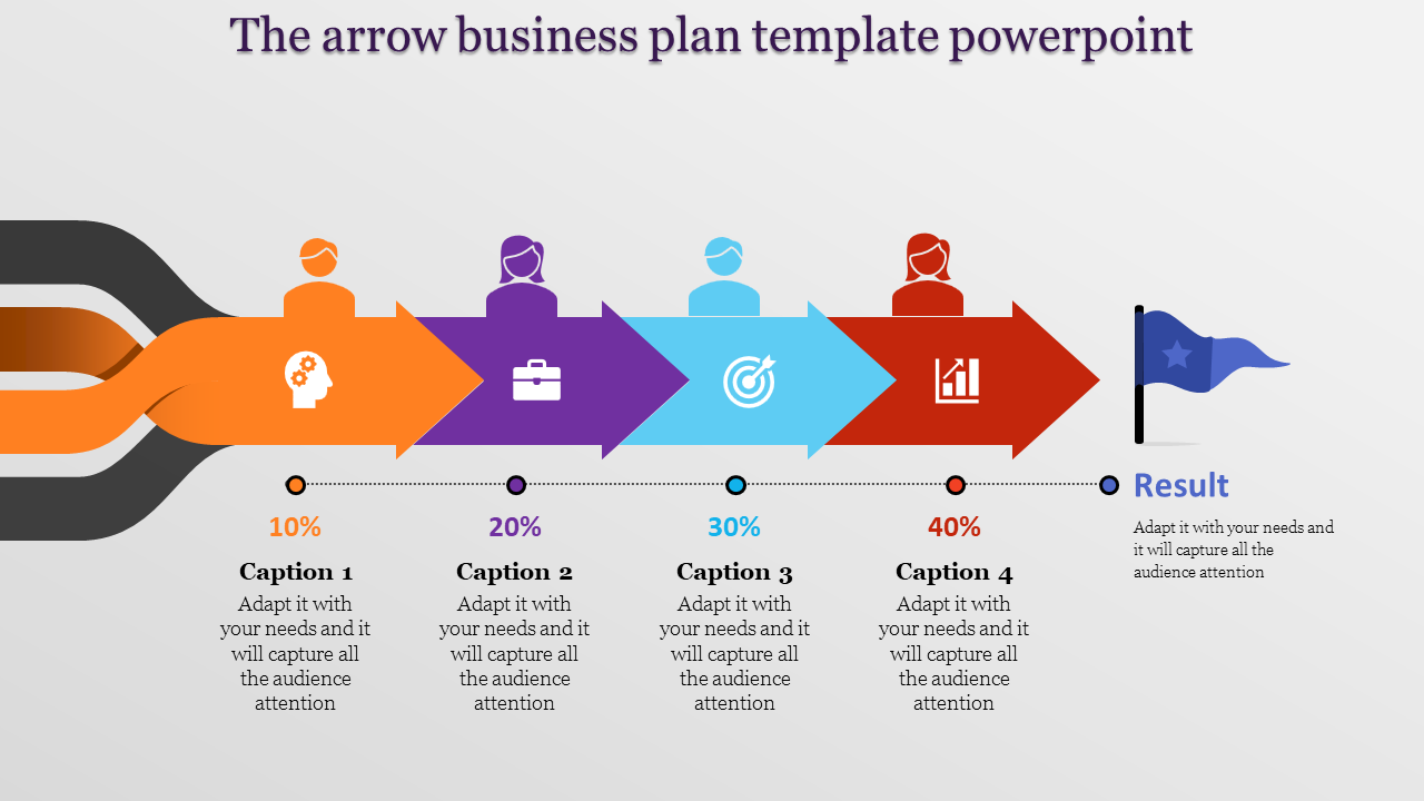 Straight lined business plan template powerpoint