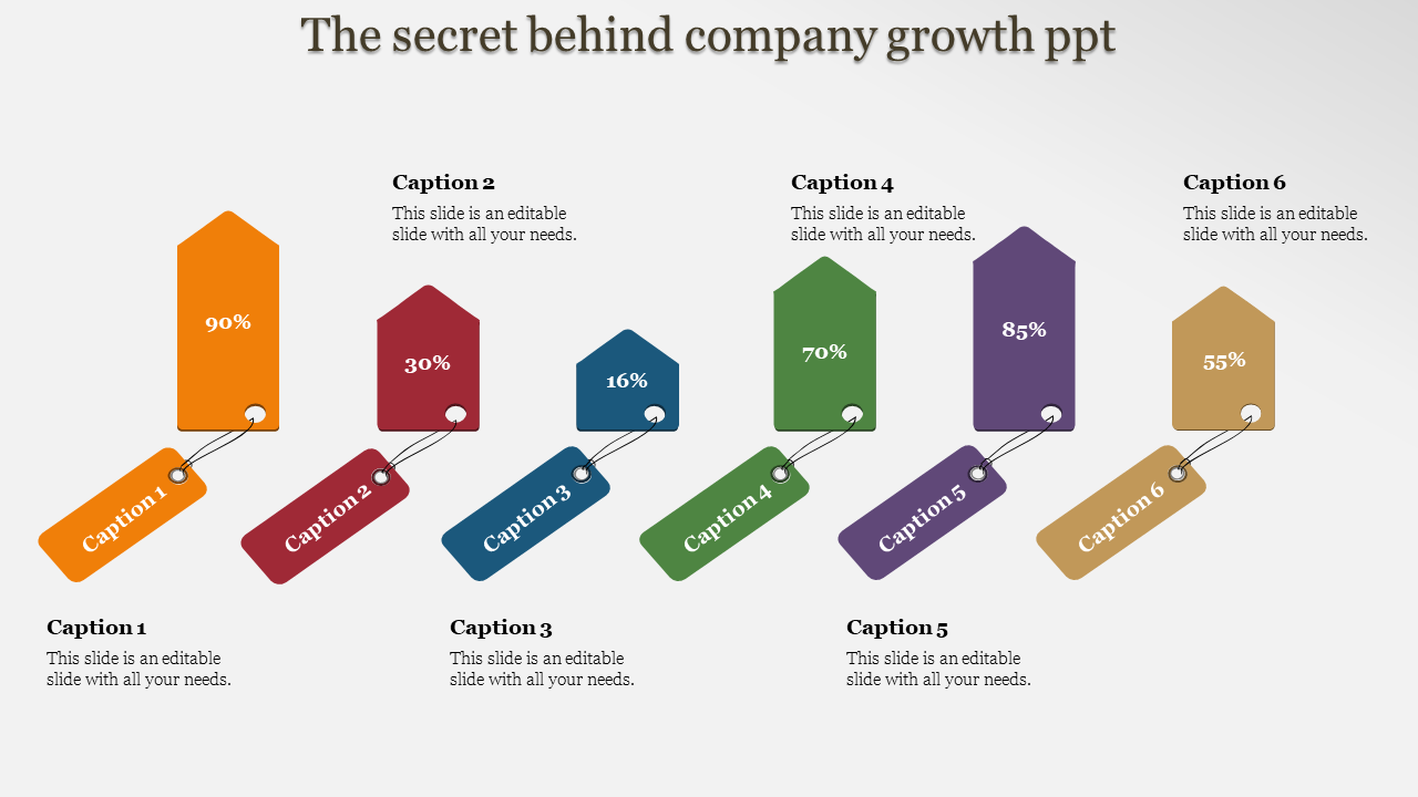 Company Growth Powerpoint Tag Model