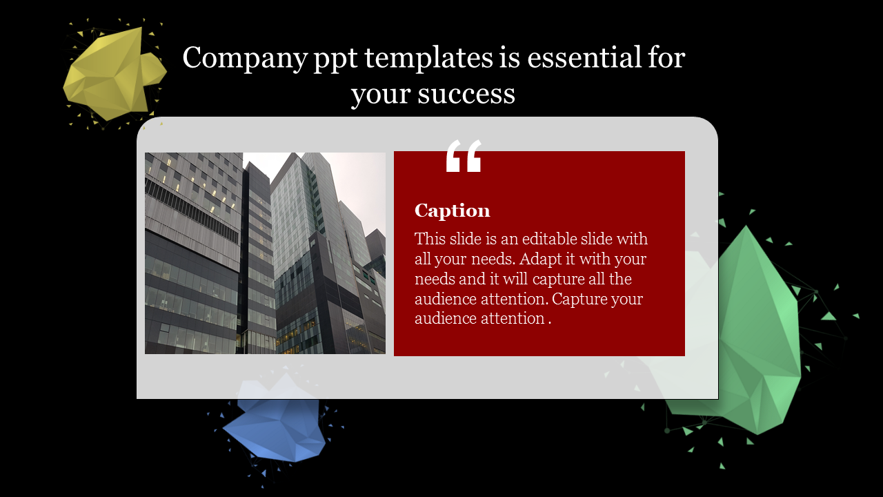 Download Company Powerpoint Templates With Dark Back Ground