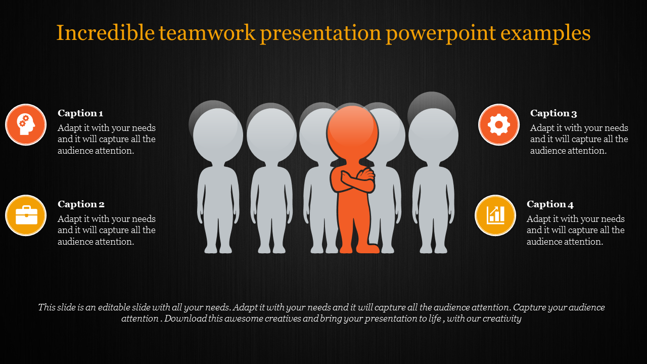 Teamwork Presentation Powerpoint - Six Humans