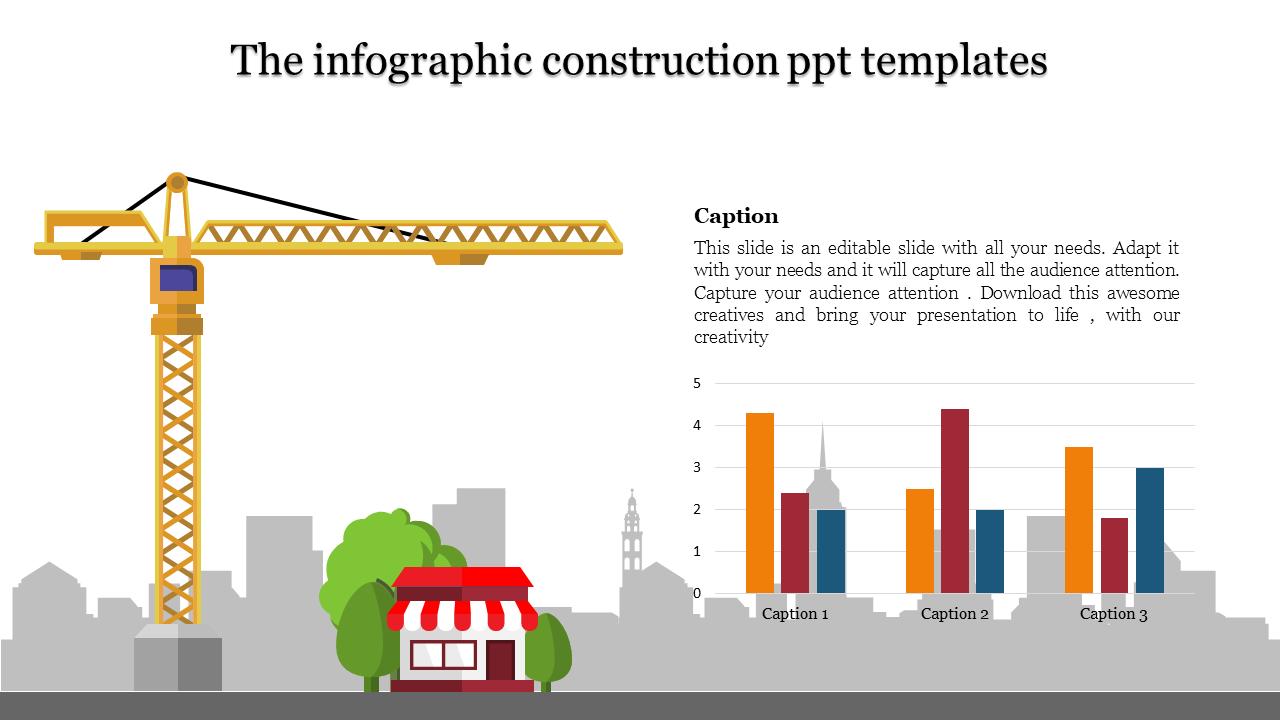Construction Ppt Templates Bar Chart Slideegg
