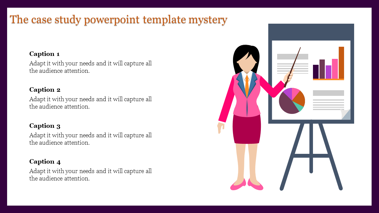 Free-Silhouette Case Study Powerpoint Template