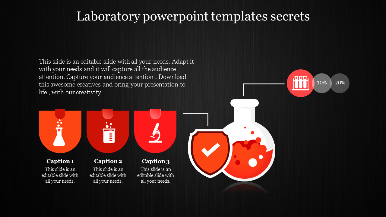 Laboratory Powerpoint Templates With Dark Background