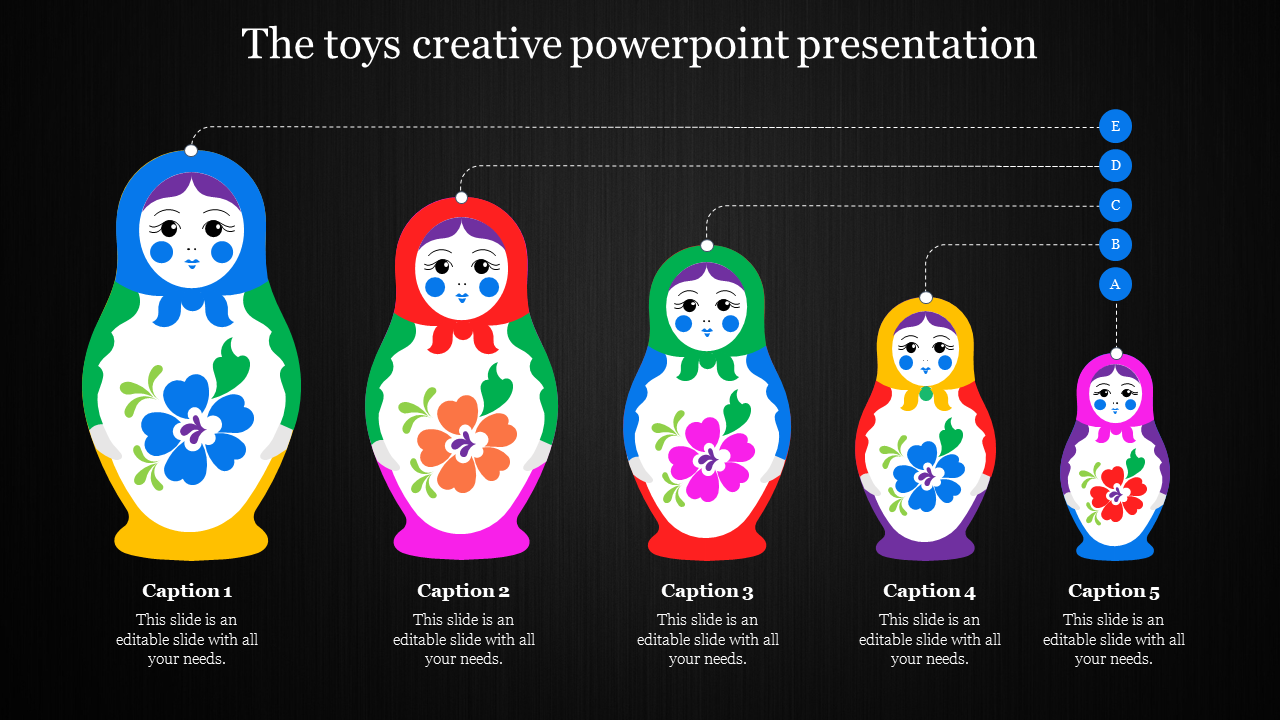 creative powerpoint presentation - Toy model