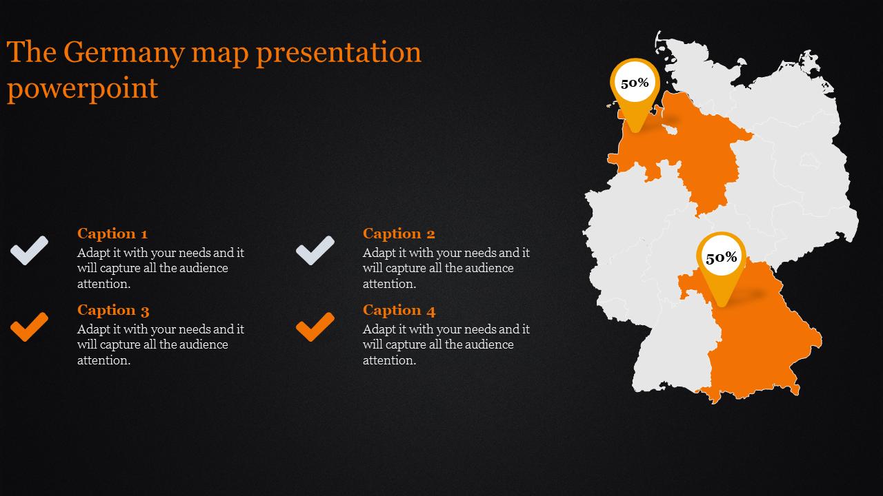 Germany Map Presentation Powerpoint