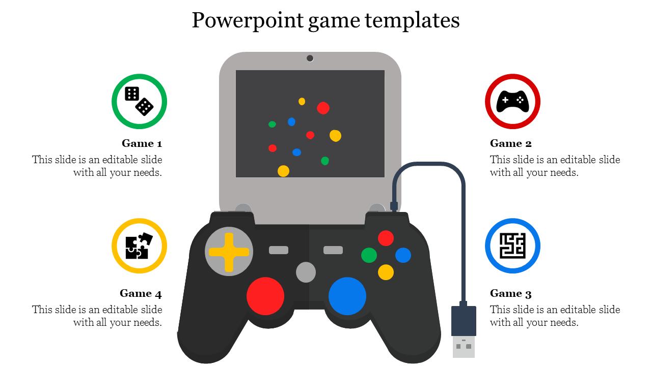 Best Powerpoint Game Templates Joystick Model Slideegg