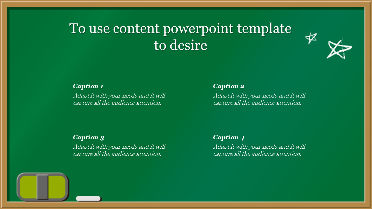 Content Powerpoint Template In Board Model
