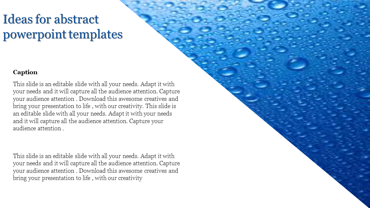 Abstract Powerpoint Templates Water Drop Background