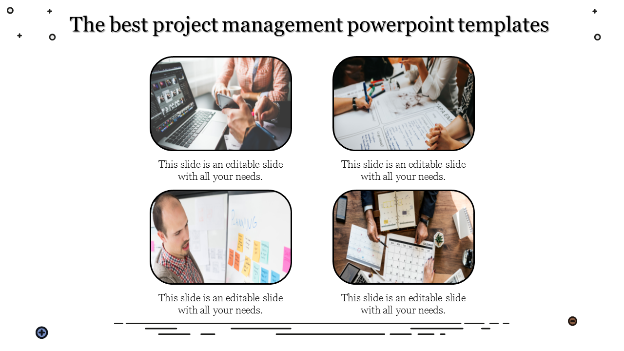 A Four Noded Best Project Management Powerpoint Tem