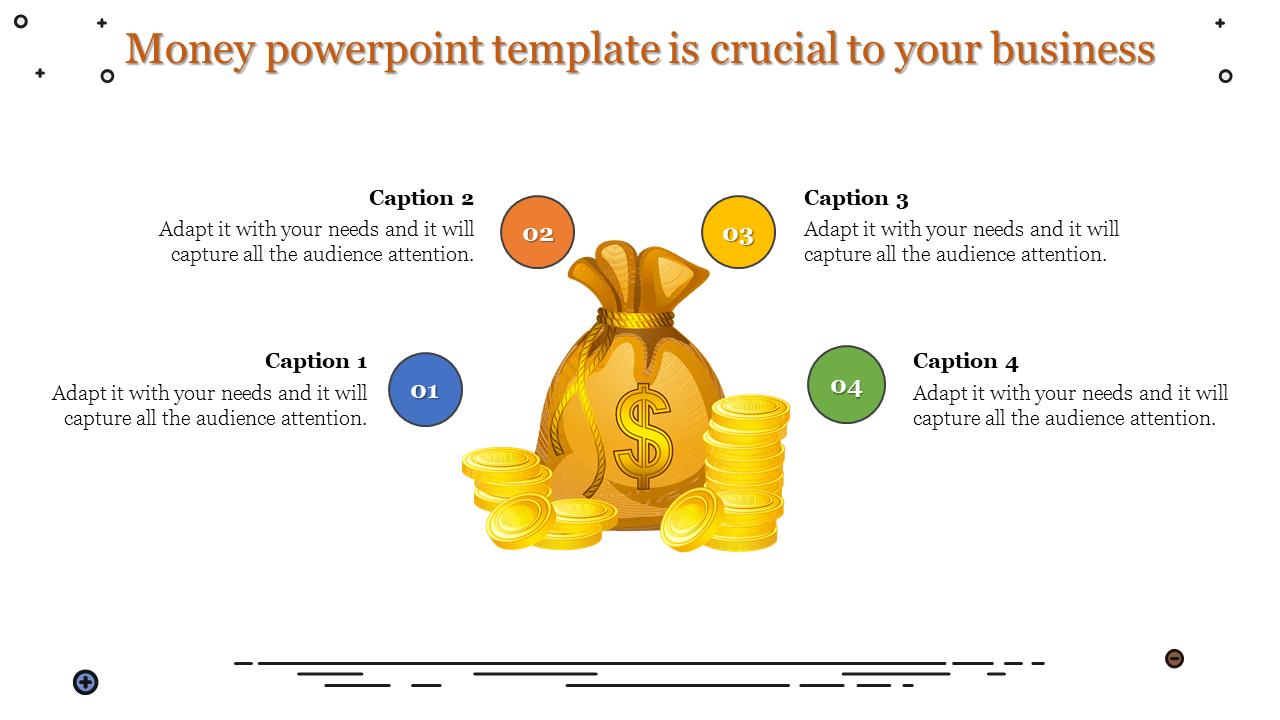 Money Powerpoint Template Dollars