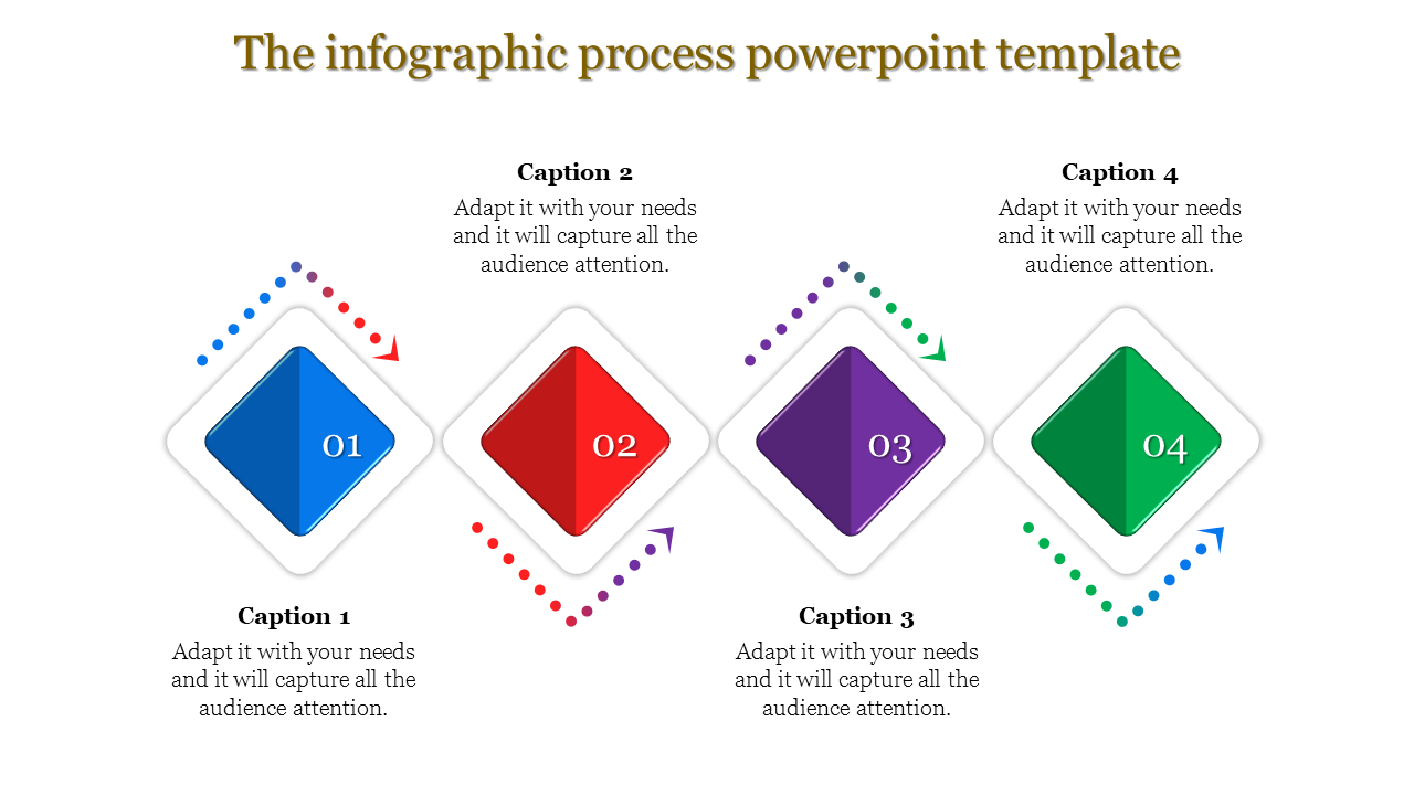 Diamond model infographics process PowerPoint template