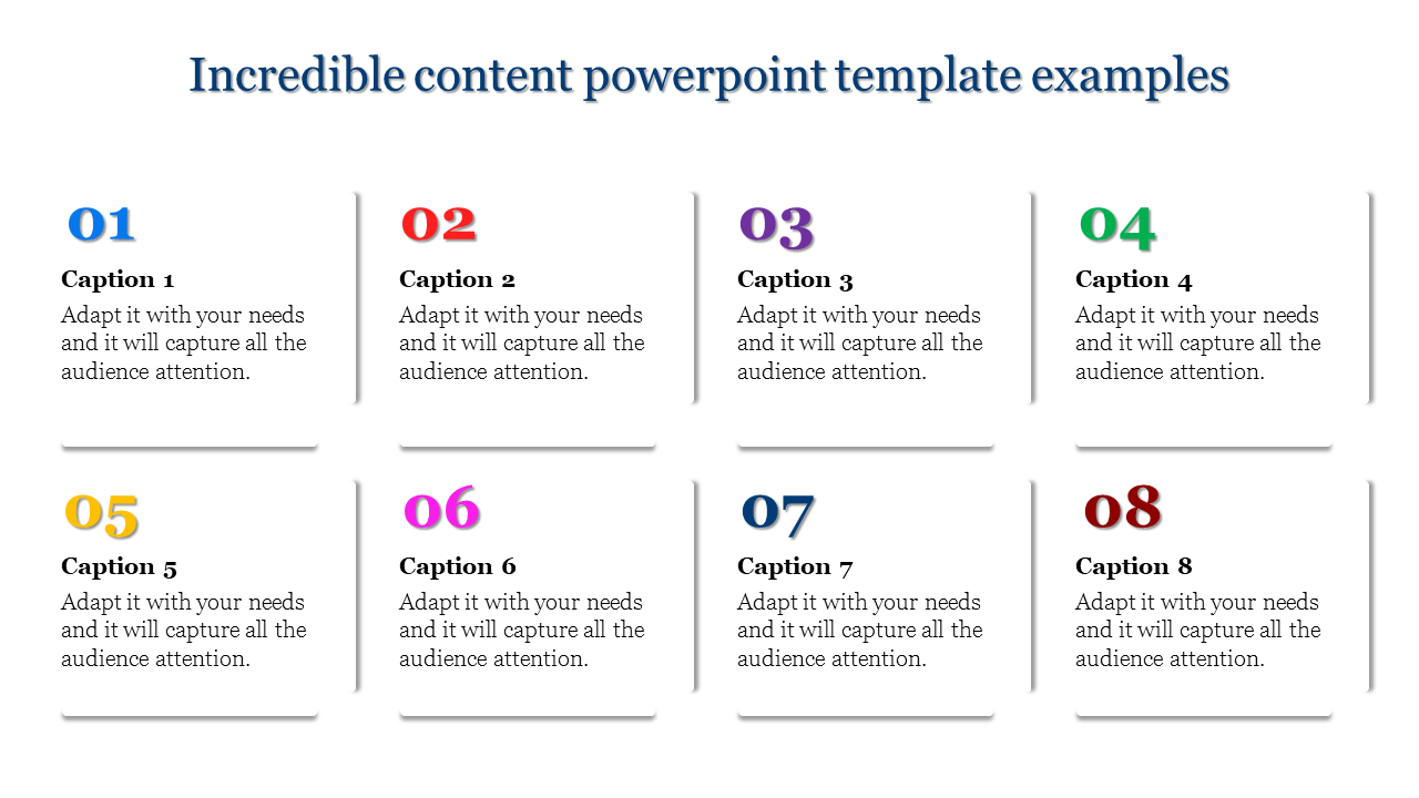 Content Powerpoint Template - Eight Stages