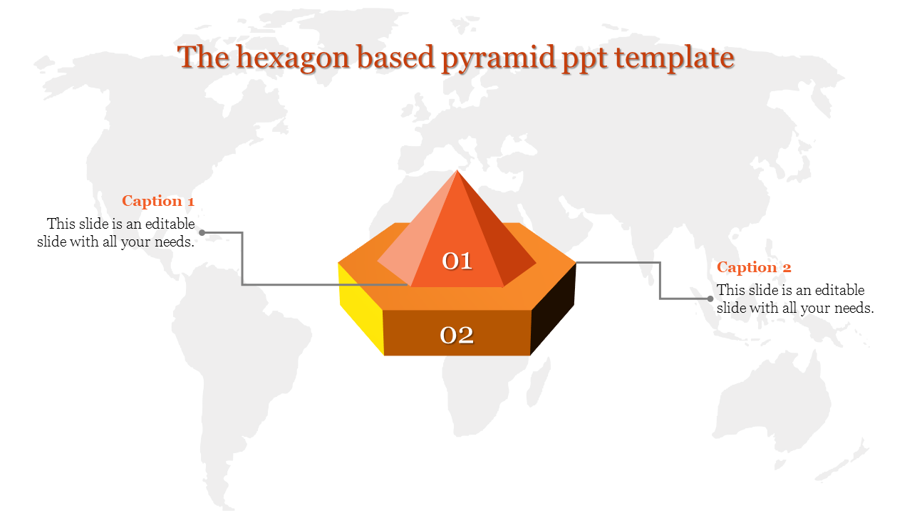 A two noded pyramid ppt template