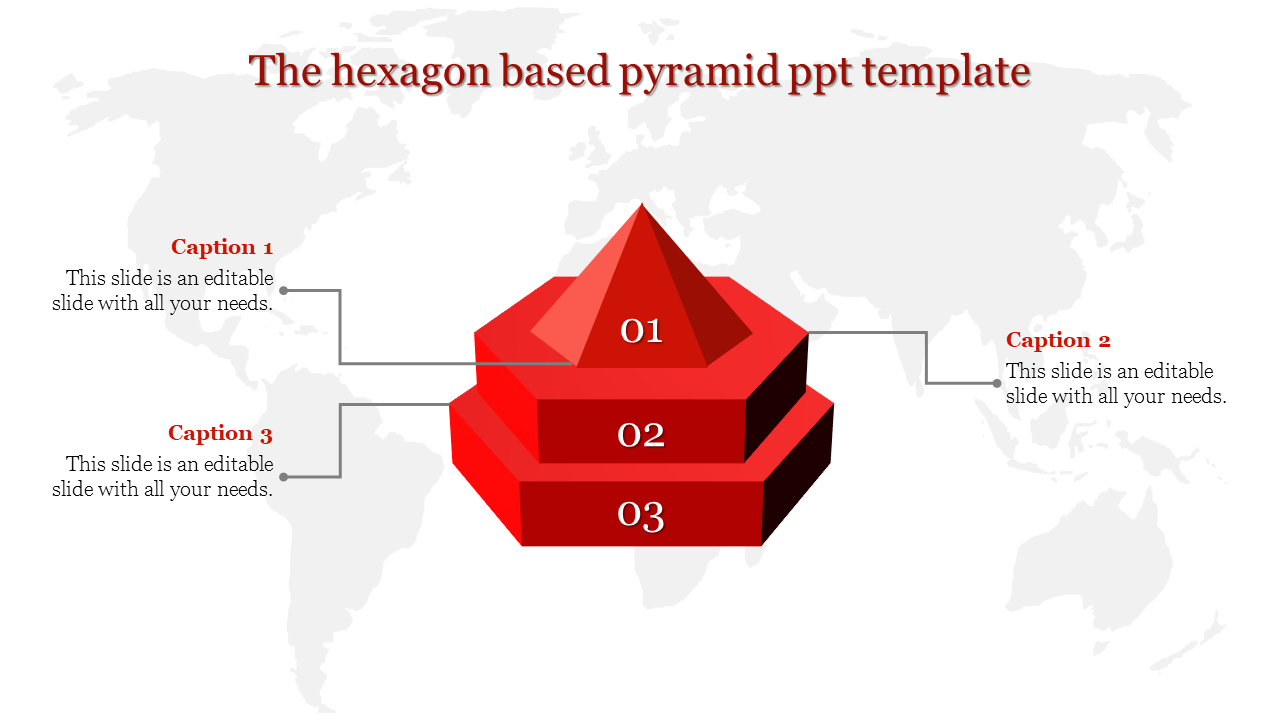 A three noded pyramid ppt template
