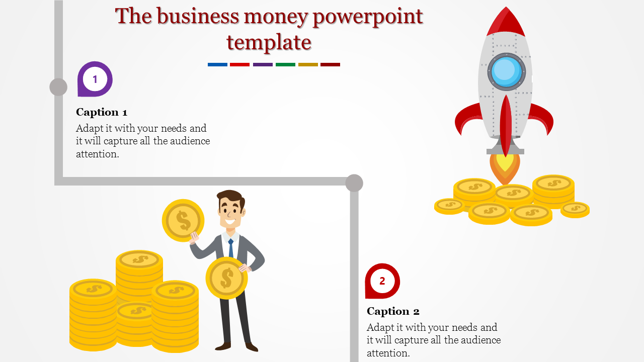 A Two Noded Money Powerpoint Template