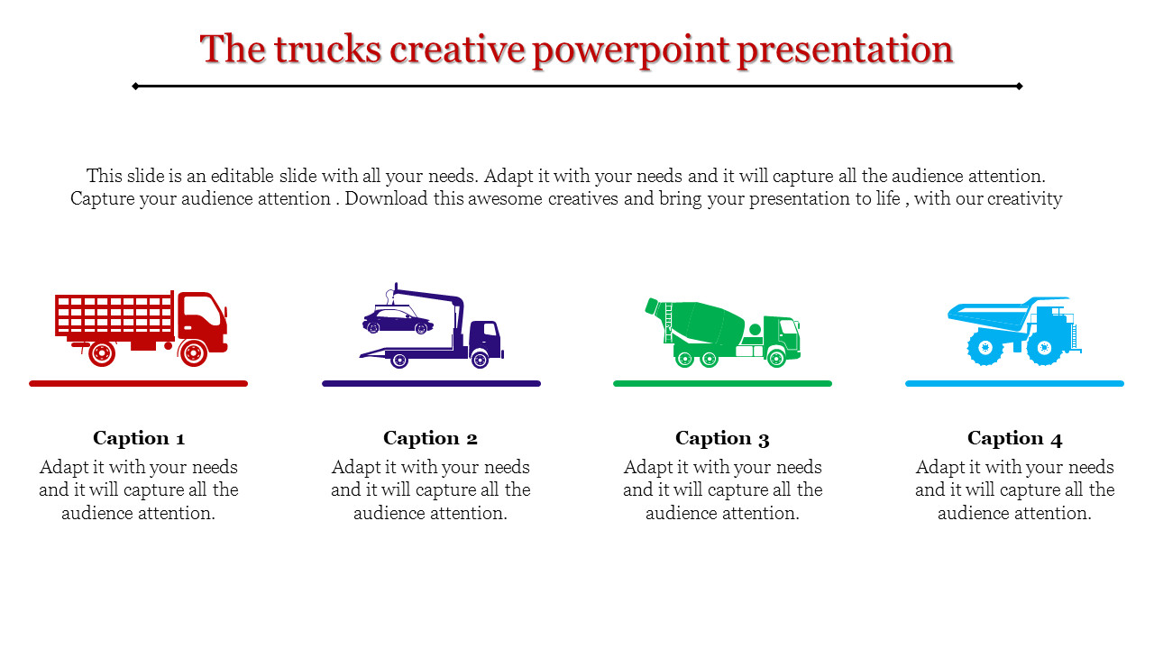A four noded creative powerpoint presentation