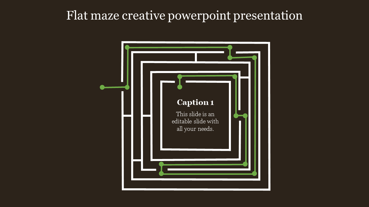 A One Noded Creative Powerpoint Presentation
