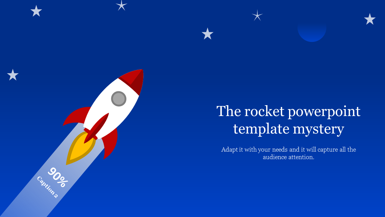 A one noded rocket powerpoint template