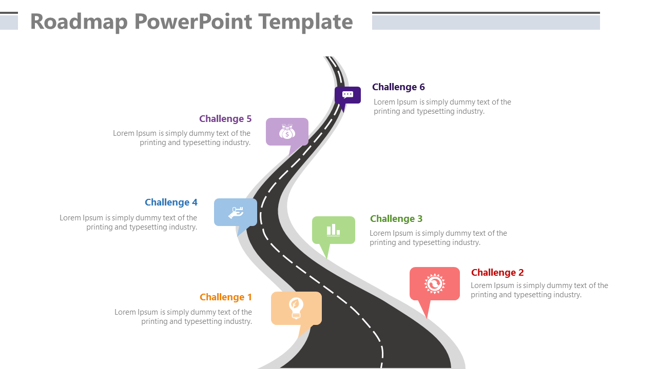 Roadmap For Business Milestone PowerPoint Template
