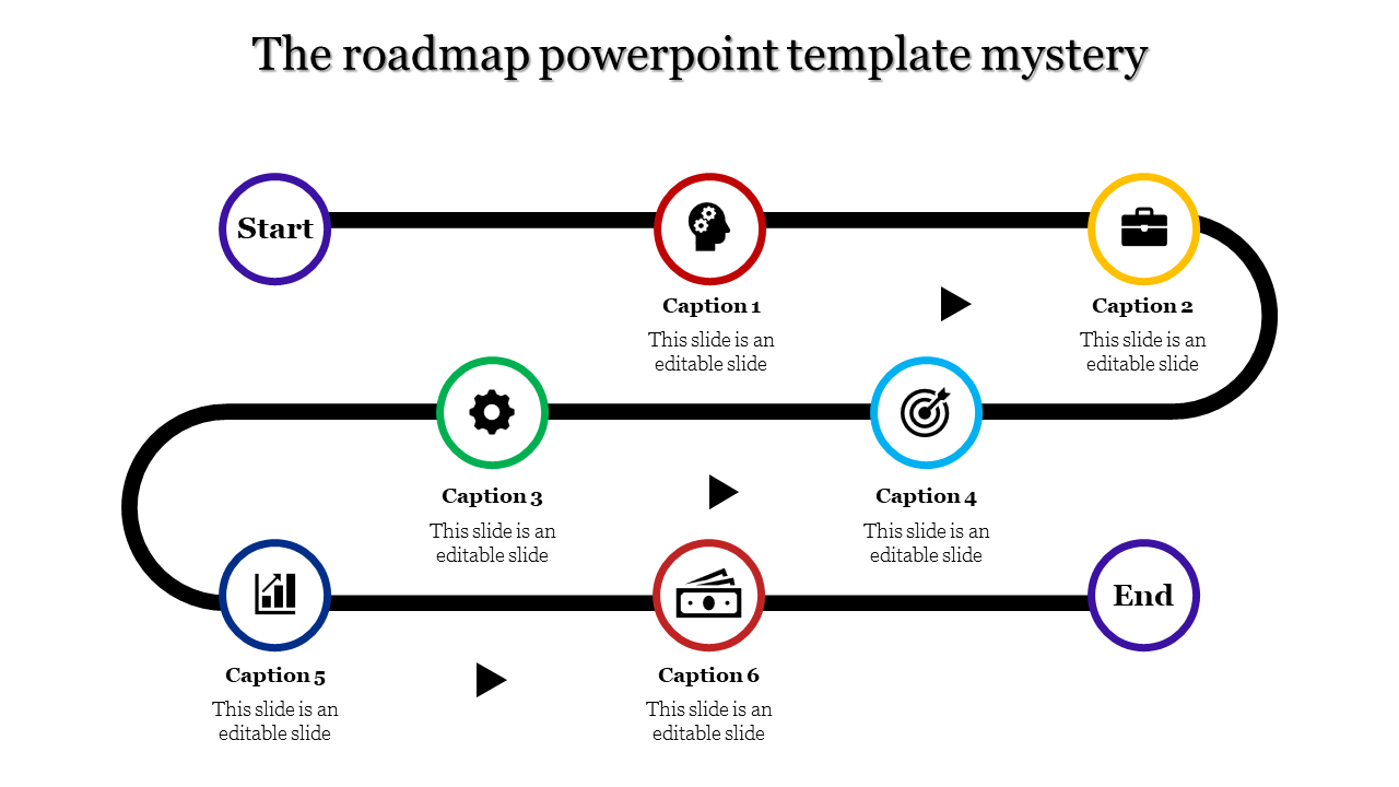 Most Successful Roadmap Powerpoint Template