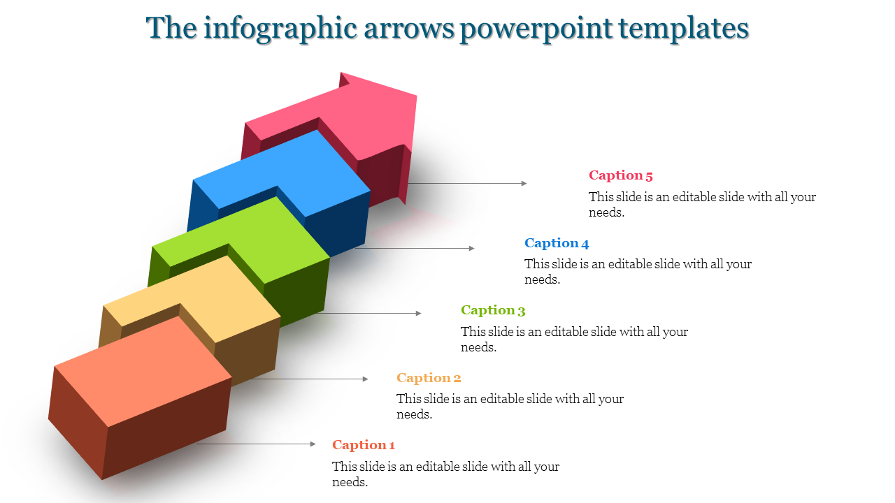 Carton arrows powerpoint templates