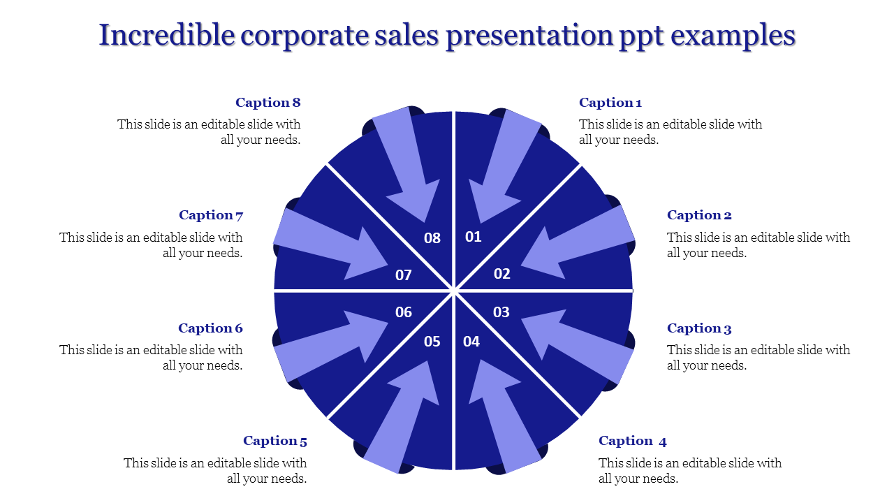 Circled Corporate Sales Presentation PPT