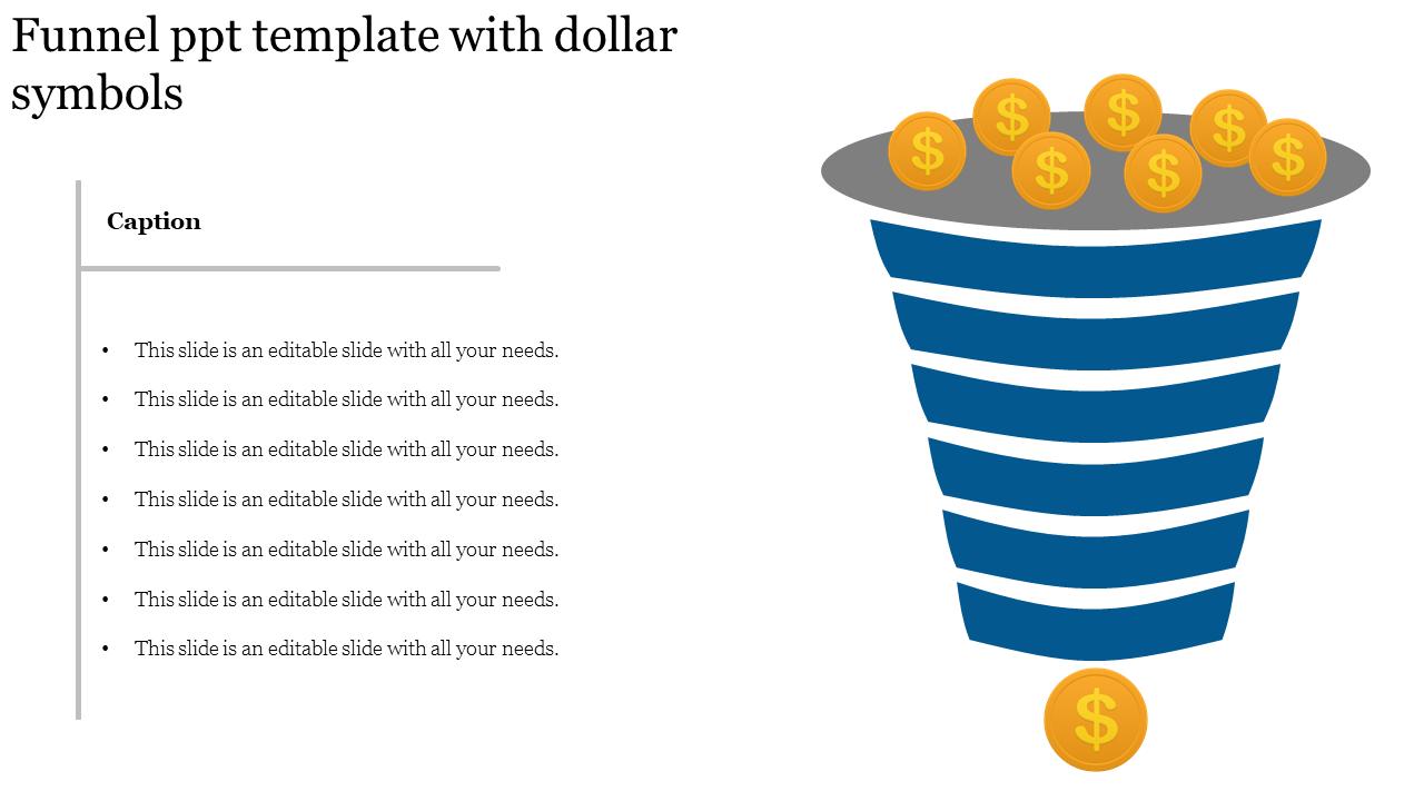 Finance Model Funnel Powerpoint Template