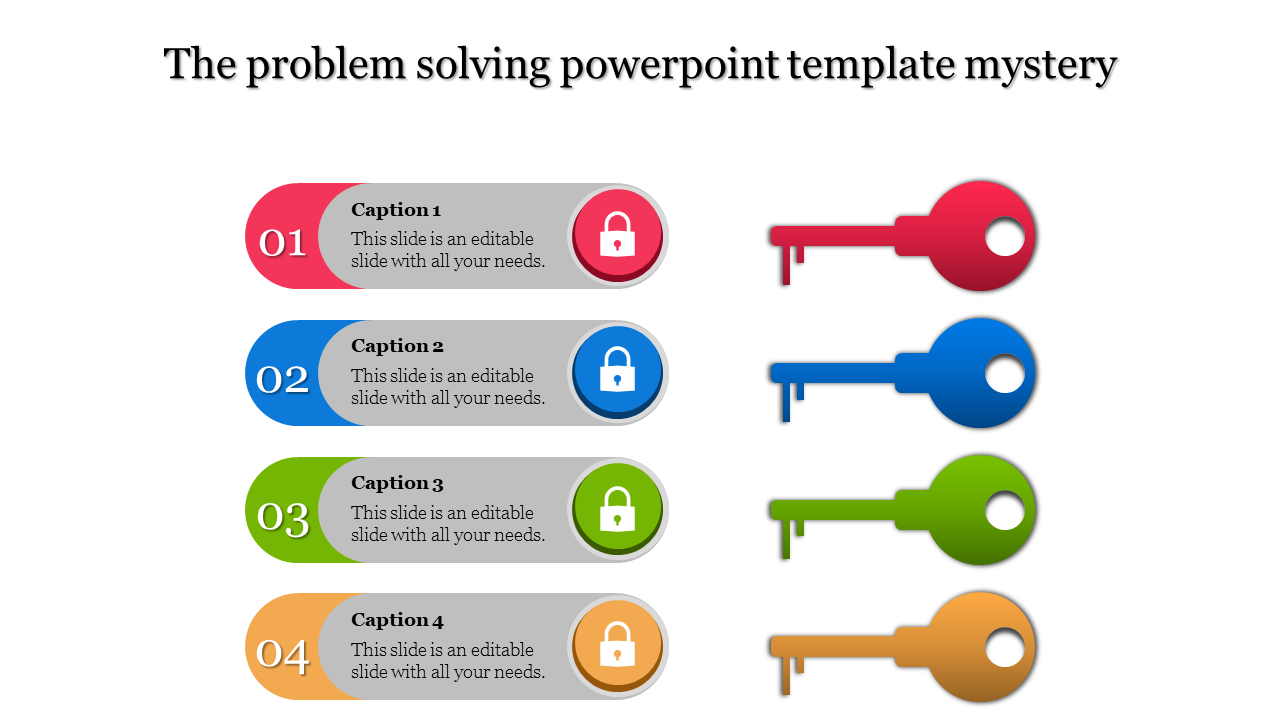 A four noded problem solving powerpoint template