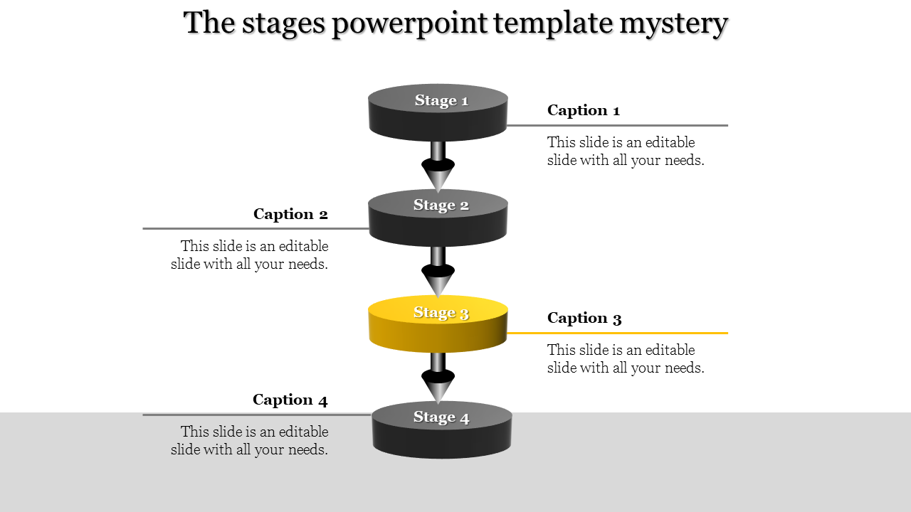 A Four Noded Stage Powerpoint Template