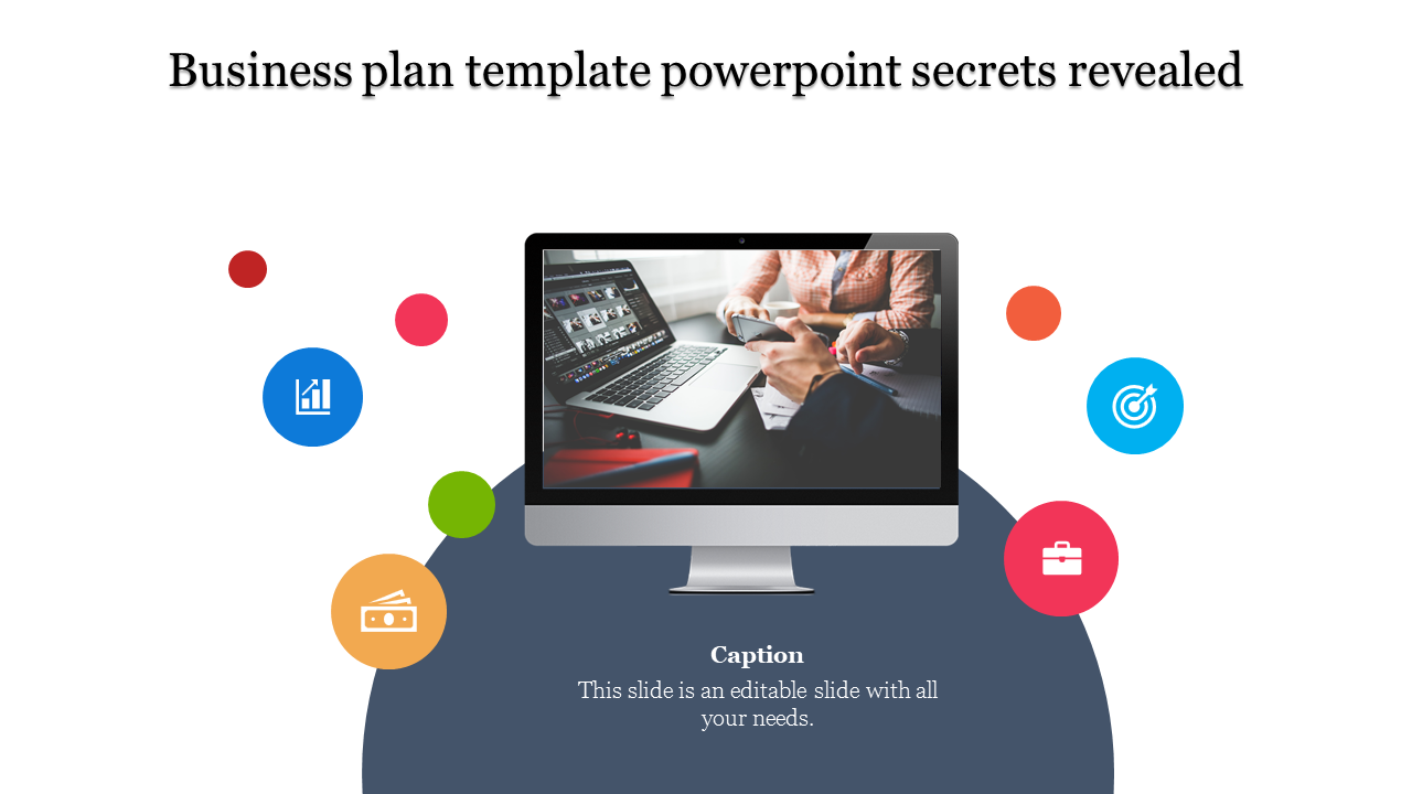 A one noded business plan template powerpoint