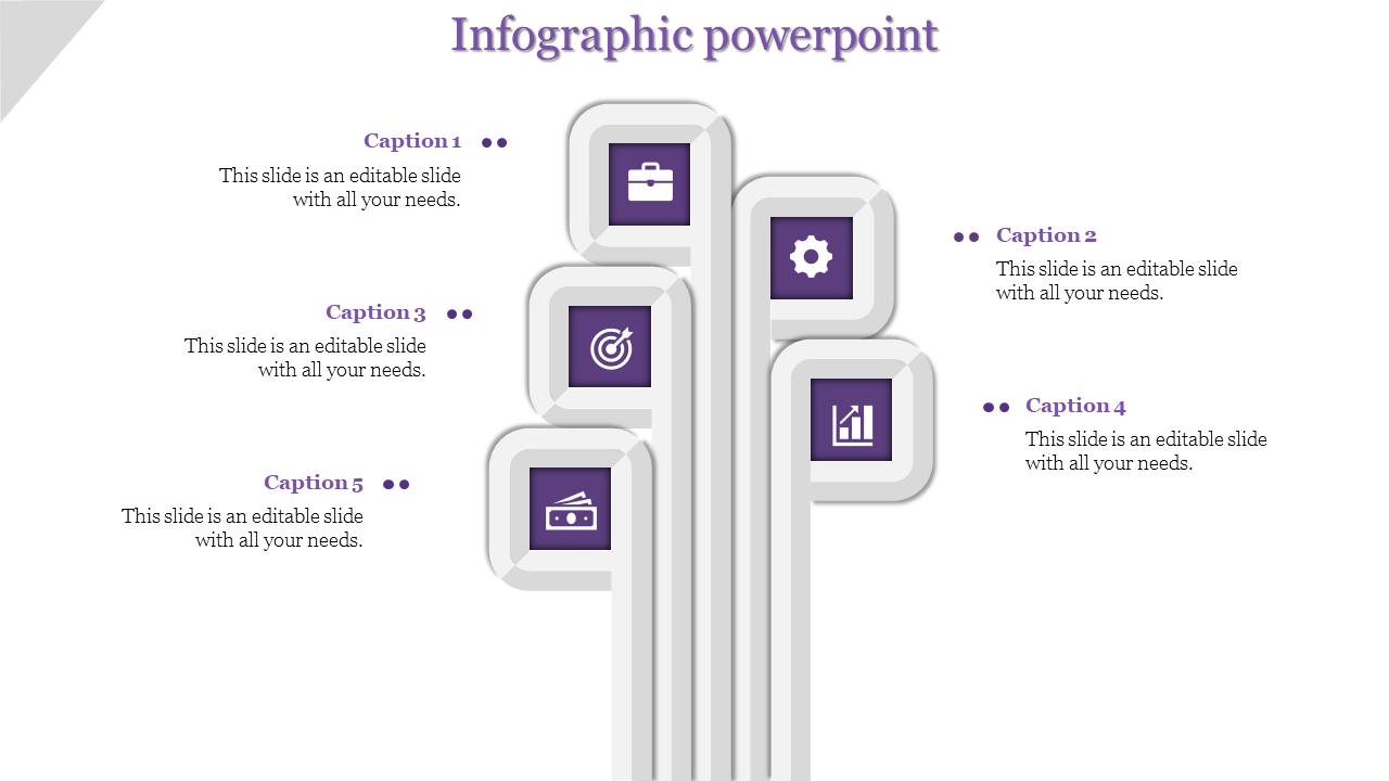 Perpendicular Infographics PowerPoint