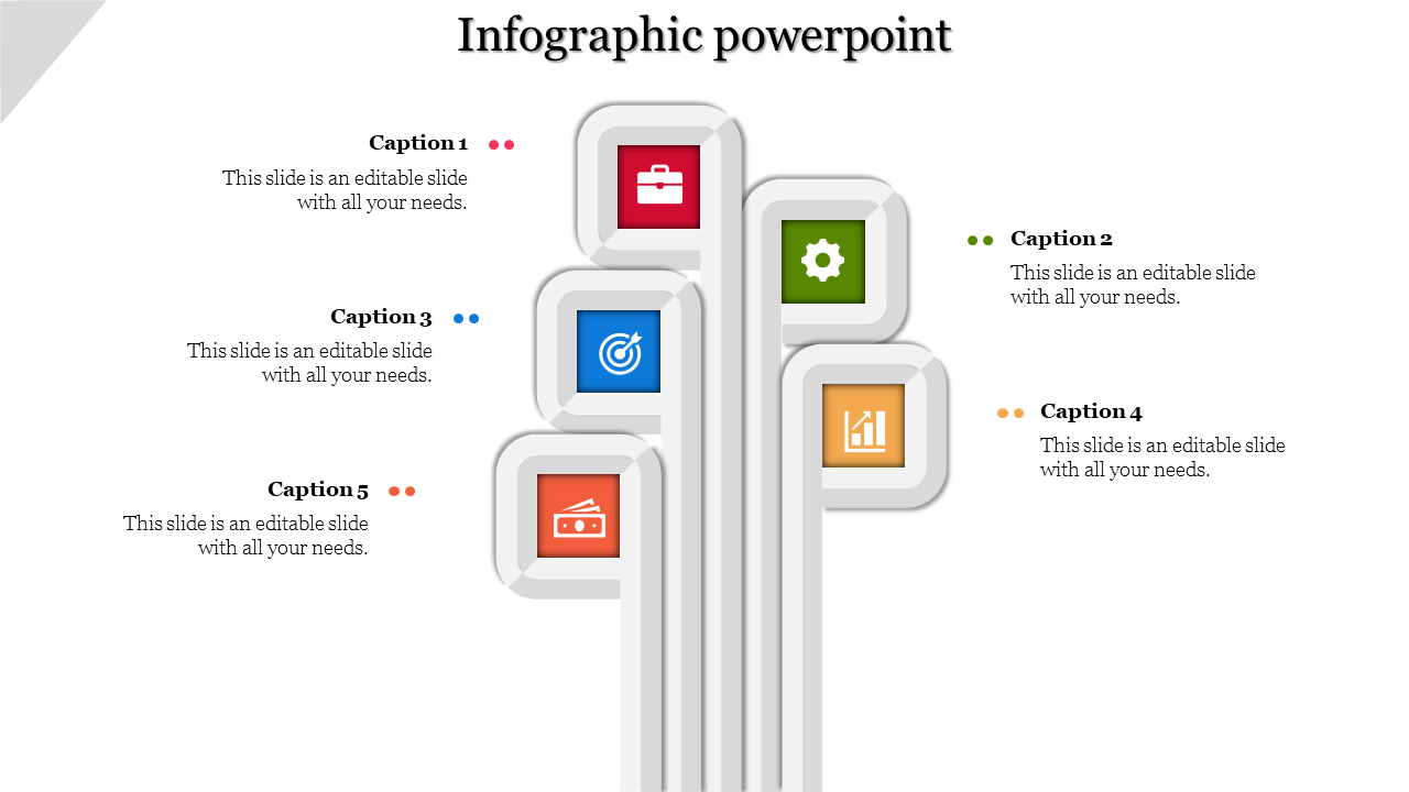 Vertical Model Infographic PowerPoint Templates