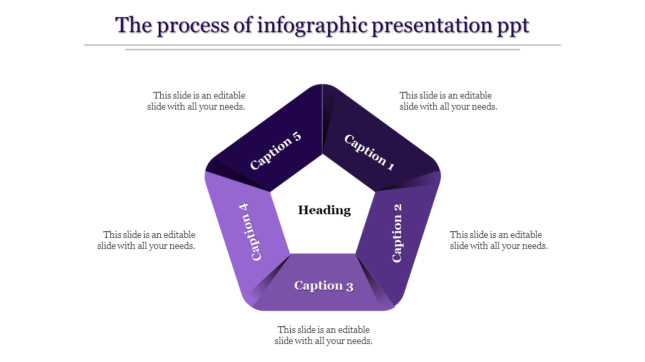 A Five Noded Infographic Presentation PPT