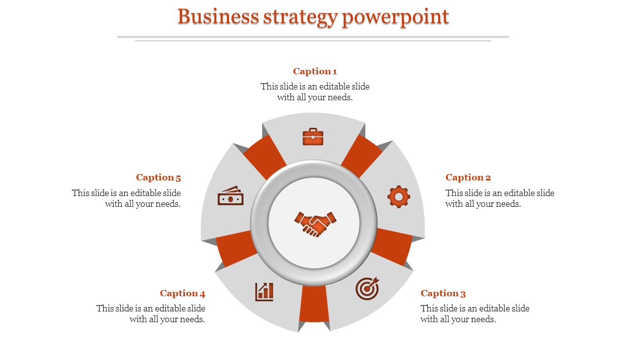 A five noded business strategy powerpoint