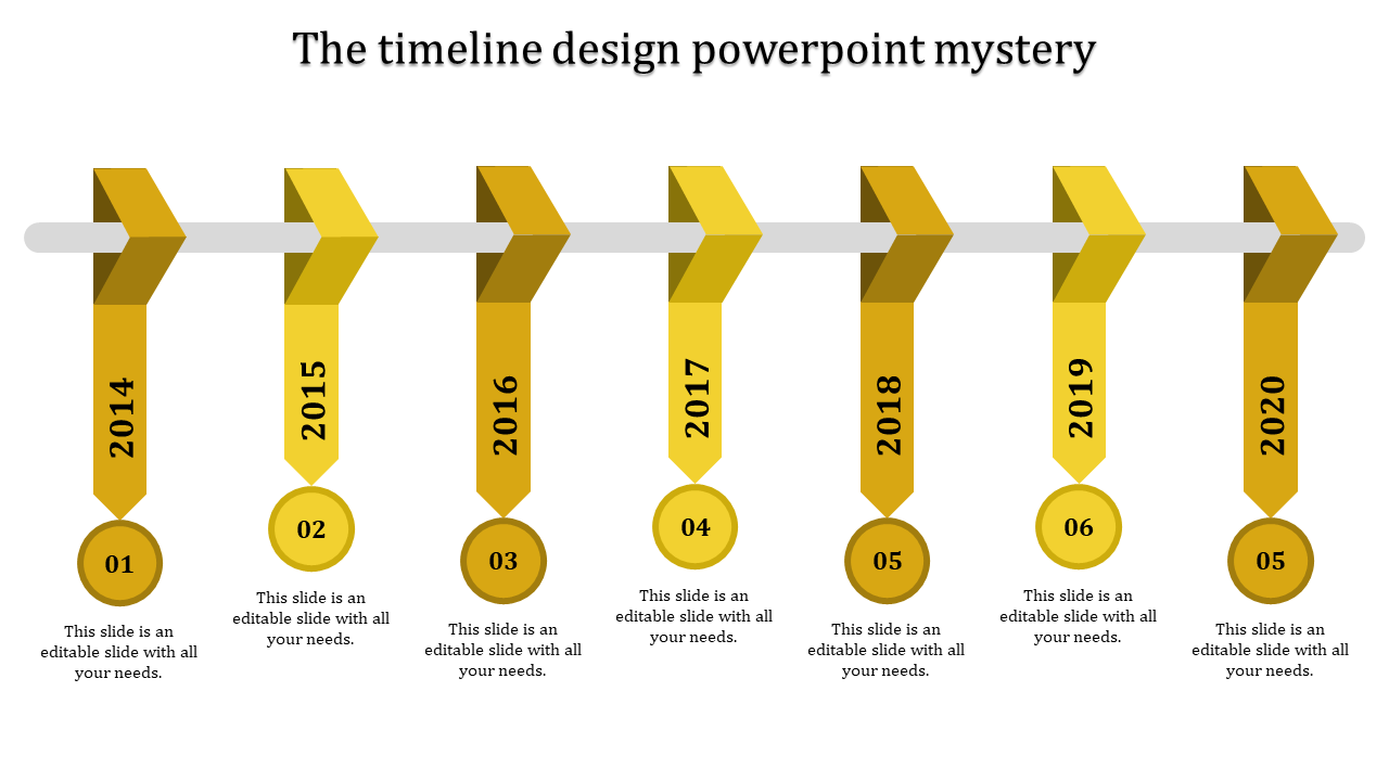 Succession timeline design powerpoint