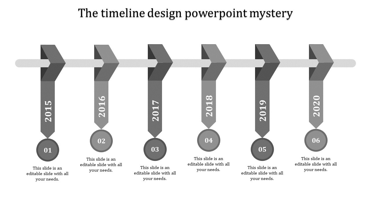 Timeline design powerpoint arrangement