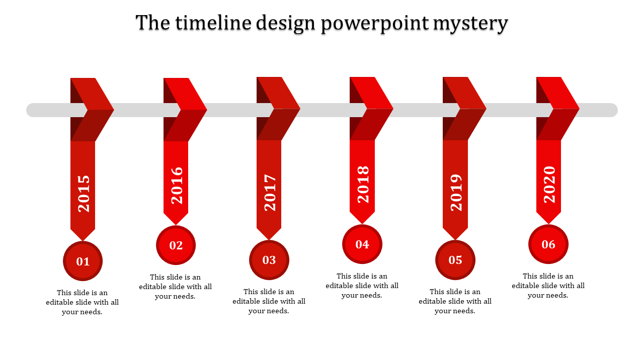 Continuous series timeline design powerpoint