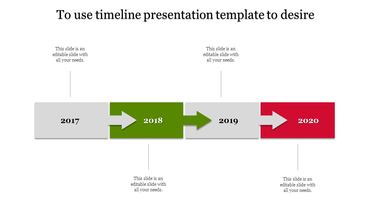 Arrow timeline design powerpoint for presentation