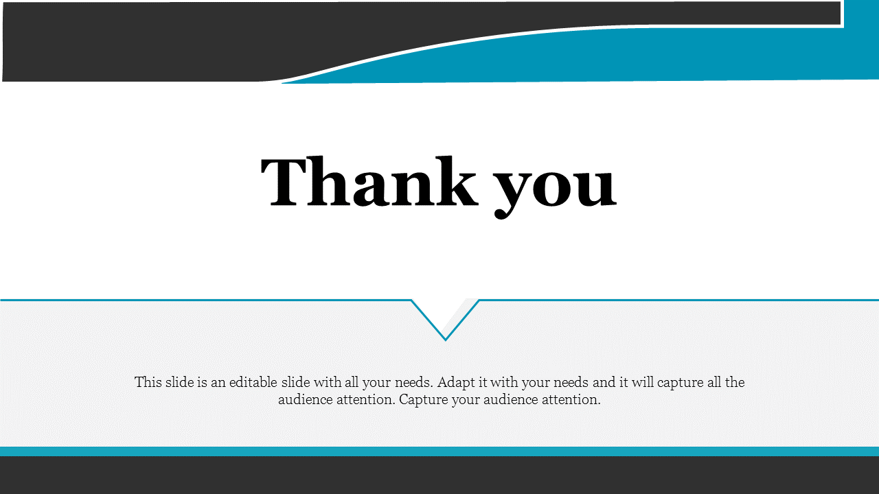 Amazing simple thank you powerpoint template
