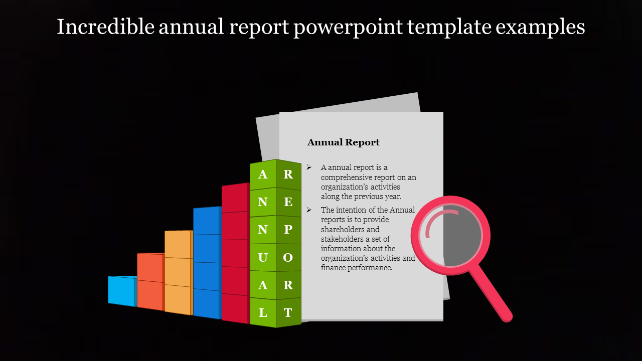 Free - A One Noded Annual Report Powerpoint Template