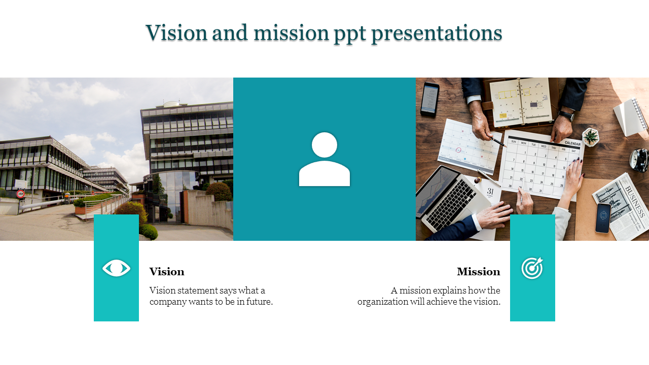 A two noded vision and mission ppt presentations