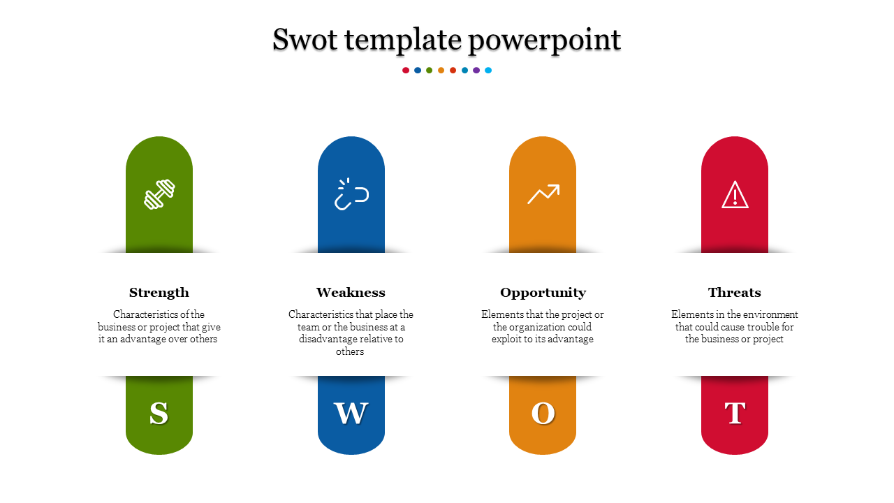 Straped SWOT Template Powerpoint