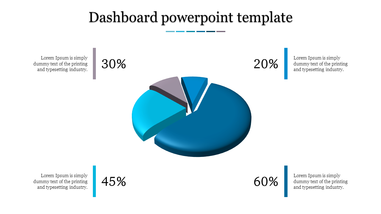Flat model Dashboard powerpoint template