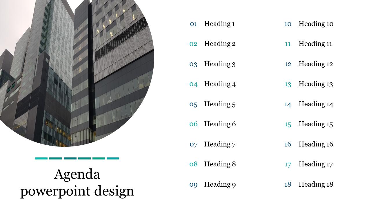 A Sixteen Noded Agenda Powerpoint Design