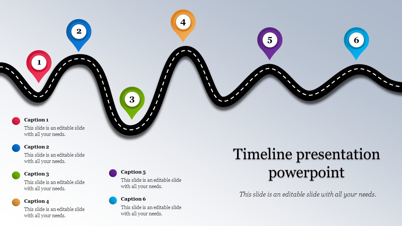Free Roadmap timeline presentation powerpoint