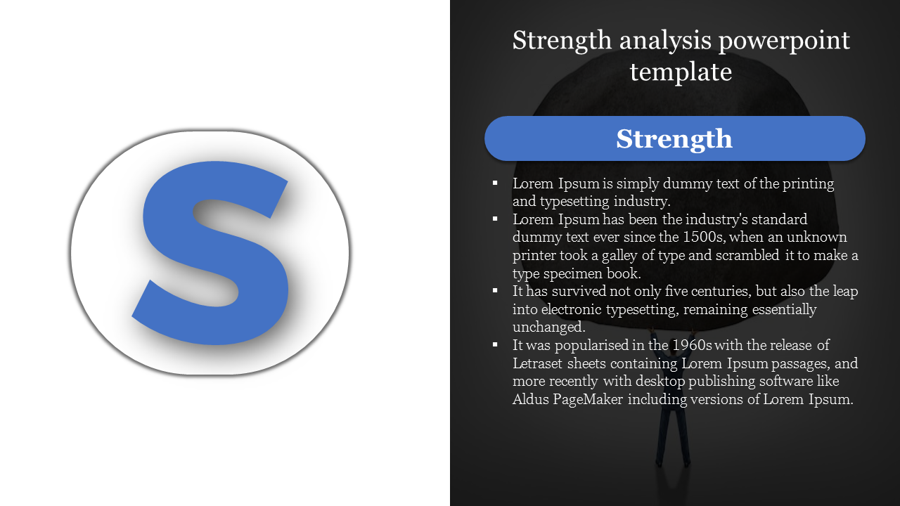 Strength Analysis Powerpoint Template Is Going To Change Your Business Strategies