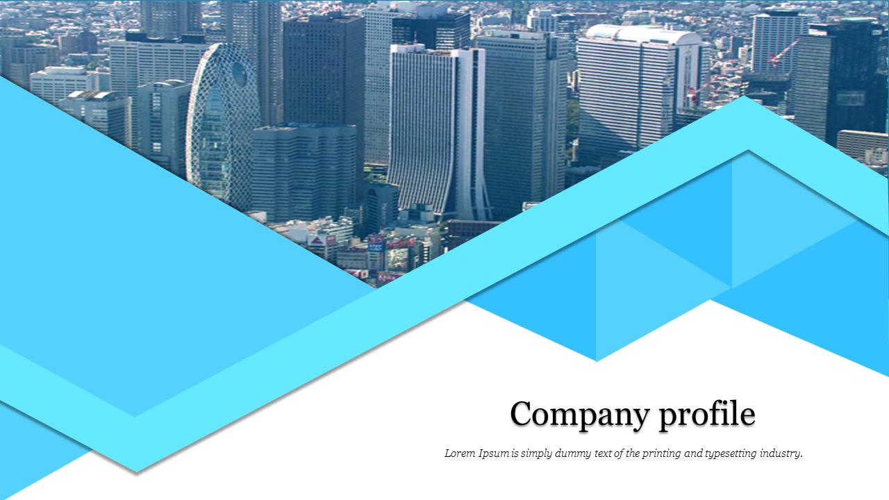 A one noded company profile slide template