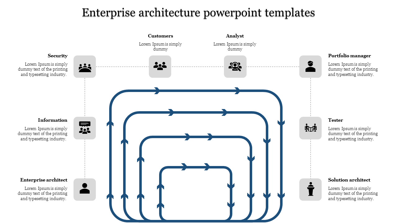 Simple Enterprise Architecture Powerpoint Templates