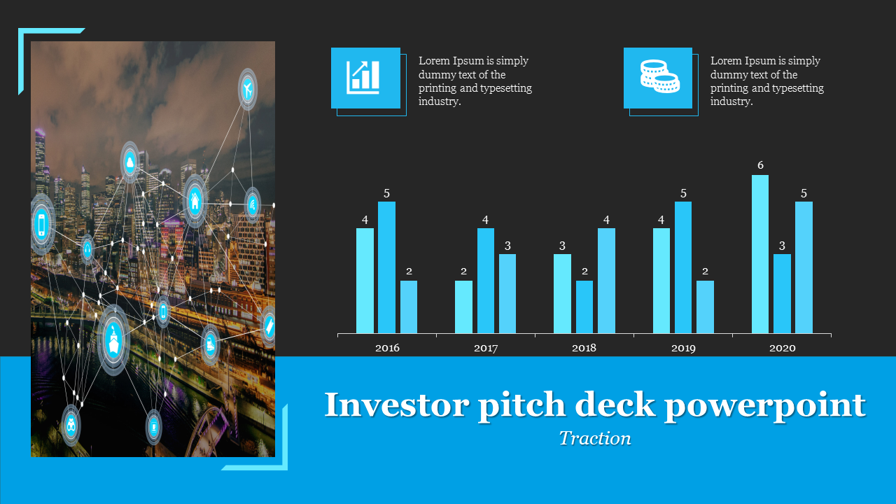 A Two Noded Investor Pitch Deck Powerpoint