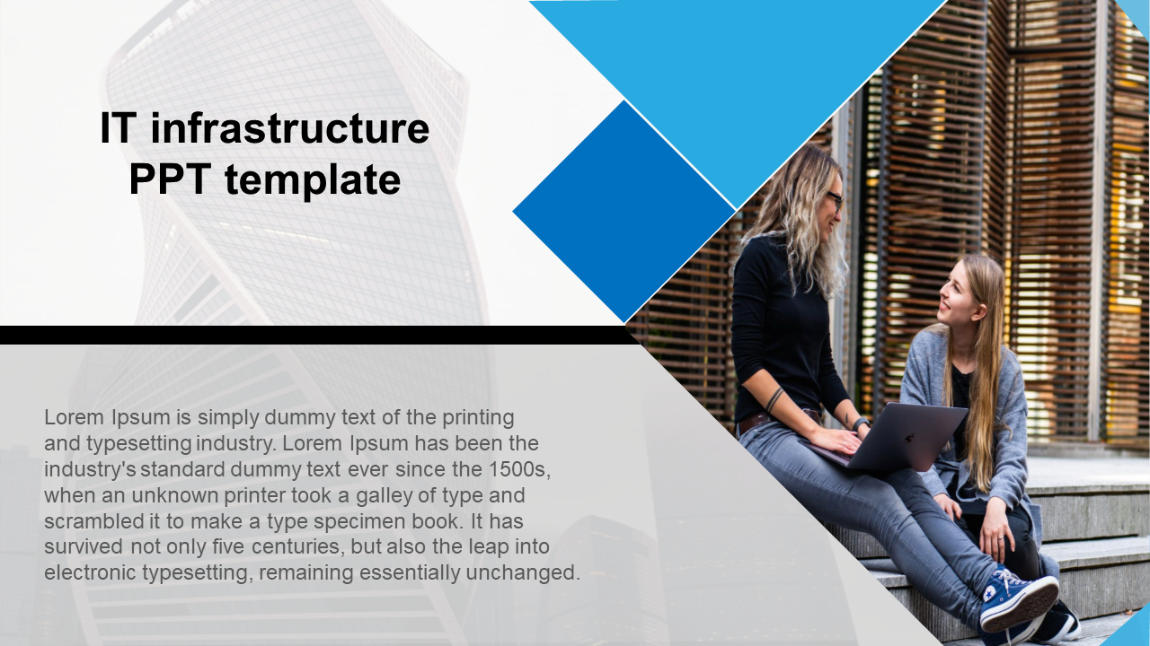 Portfolio model IT infrastructure PPT template